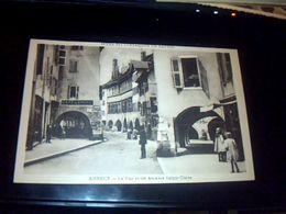 Cp Ancienne Non Ecrite De Annecy La Rue Et Les Arcades Commerce Cafe De Crepy.. - Montauban