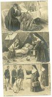 Illustrateur Kauffmann Serie Complete Les Expulsées 10 Cartes Tirage Mat Papier Photo Rare - Kauffmann, Paul