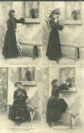 Fantaisie Femme La Marguerite Un Peu Beaucoup... Lot 4 Cartes 1904 - Femmes