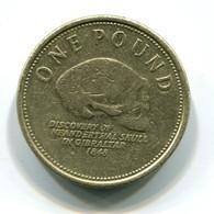 2009 Gibraltar 'Neanderthal Skull' One Pound Coin - Gibraltar