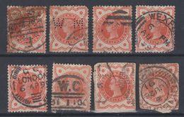 Great Britain - 1887-1900 - Obl. - Y&T  91 - Filigrane Couronne - - 1840-1901 (Victoria)