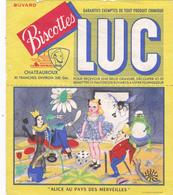 BUVARD LUC Biscottes Chateauroux ALICE AU PAYS DES MERVEILLES - Zwieback