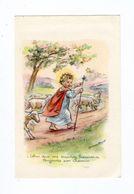 Illustrateur Germaine Bouret, Celui Qui Me Suivra Trouvera... Jésus Divin Berger, Image Pieuse - Devotion Images