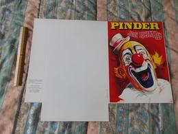 Cirque Pinder Jean Richard Objet Publicitaire Cartonnée Pochette A Plier - Pubblicitari