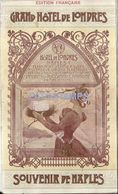 85396 ITALY NAPLES NAPOLES GREAT HOTEL DE LONDRES PUBLICITY LIBRILLO NO POSTAL POSTCARD - Pubblicitari