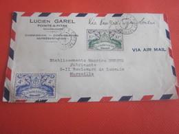 Pointe à Pitre-Guadeloupe France Ex-colonie Protectorat(1884-1947)devant De Lettre Document P-Melle Via New-York-Londres - Cartas