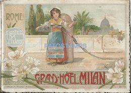 85397 ITALY ROMA LACIO GREAT HOTEL MILAN PUBLICITY LIBRILLO NO POSTAL POSTCARD - Pubblicitari