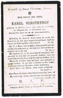 Adegem, Eeklo: 1917, Karel Verstrynge ( 2 Scans) - Devotion Images