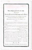 Edegem, Antwerpen: 1908, Maria Elisabeth Philomena De Moor ( 2 Scans) - Devotion Images