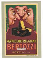 CARTOLINA PUBBLICITARIA CARTONCINO BERTOZZI PARMIGIANO REGGIANO Illustratore MAUZAN ACHILLE LUCIANO - Pubblicitari