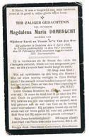 Eeklo, Oedelem: 1916, Magdalena Maria Dombrecht ( 2 Scans) - Devotion Images