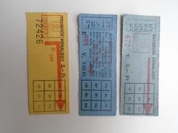 D156453  Hungary  Tram -Bus Tickets  1,50 Ft -2 Ft -3 Ft - Ca 1970's - Transportation Tickets