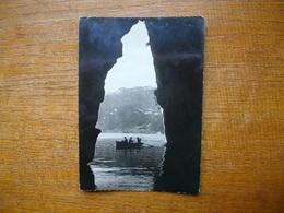"""Annecy , Lac D'annecy , Grotte Du Grand Perthuis """" Carte Animée Barque """" - Francia"""