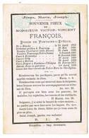 Fontaine-L'Evêque, Bruxelles, Hornu, Silly: 1875, Victor-Vincent François; Doyen De Fontaine-L'Evêque( 2 Scans) - Devotion Images