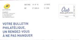 """Lettre De Philaposte    Avec Un Facsimilé  Imprimé   """"  Club  Phil@poste  """"    Daté  Du  01 - 07 - 2016 - PAP : Altri (1995-...)"""