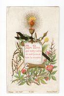 L'agonie De Jésus, Sacré Coeur De Jésus, Croix, Chapelet, Calice Et Fleurs, éd. Bonamy Pl. 124 - Devotion Images