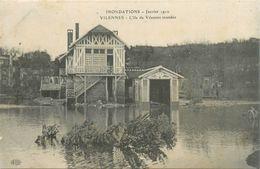 78-Villennes Sur Seine : Inondations 1910-L'ile De Vilennes Inondée - Villennes-sur-Seine