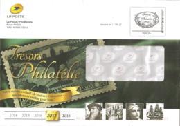 """Lettre De Philaposte    Avec Un Facsimilé  Imprimé   """"   Trésors De La Philatélie  """"  Monde - PAP : Altri (1995-...)"""