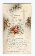 Le Chemin De La Croix, XIIe Station, Citation De L'abbé Perreyre Et Fleurs, N° 5398 - Devotion Images