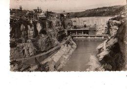 01----barrage De GENISSIAT--vue De L'usine Et Du Canal De Fuite--voir  2 Scans - Génissiat