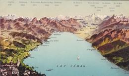LAC LEMAN, EDIT.LOUIS BURGY-SWISS-TBE-BLEUP - Landkaarten