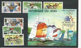 MALI Scott C497-C499, C507-C509, C500 Yvert PA489-PA491, PA498-PA500, BF22 (6+bloc) ** Cote 18,00$ 1984 - Mali (1959-...)