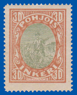 FINLAND RUSSIAN OCCUPATION NORTH INGERMANLAND 1920 FARMER HARVESTING  U.M.  FACIT 9 - 1919 Occupation: Finland
