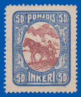 FINLAND RUSSIAN OCCUPATION NORTH INGERMANLAND 1920 FARMER PLOUGHING  U.M.  FACIT 10 - 1919 Occupation: Finland