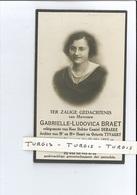 GABRIELLE L BRAET ECHTG DR CAMIEL DEBAEKE DOCHTER H & O TYVAERT ° NIEUWPOORT 1895 + BRUGGE 1936 - Devotion Images