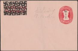 Inde Vers 1960. Entier Postal, Enveloppe à 30 Paisa. Surcharges Par Svastika - WW2