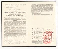 DP Carolus E. Lerno ° Lokeren 1878 † 1950 X C. Van Holewinckel / De Craecker Ysewijn Van Imschoot - Devotion Images