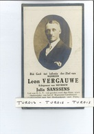 LEON VERGAUWE ECHTG JULIA SANSSENS ° NIEUWMUNSTER ( ZUIENKERKE ) 1894 + BREDENE 1933 - Devotion Images