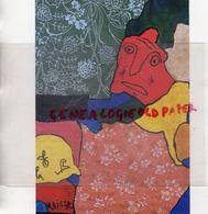 85- LES SABLES D' OLONNE- MUSEE ABBAYE SAINTE CROIX- GASTON CHAISSAC- SANS TITRE 1962 DIT VISAGE ROUE GOUACHE COLLAGE - Sables D'Olonne