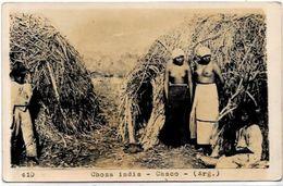 CPA Argentine Circulé Type Indien Nu Féminin Femme Nue Carte Photo - Argentina
