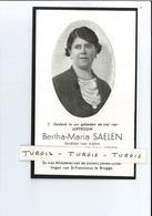 BERTHA M SAELEN DOCHTER J & M STEEN ° KORTEMARK 1891 + BRUGGE 1946 - Devotion Images