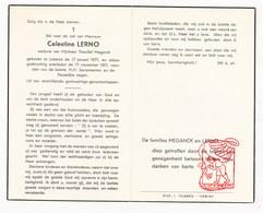 DP Celestine Lerno ° Lokeren 1877 † 1957 X Theophiel Meganck - Devotion Images