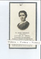 ANGELE PEEL ECHTG LOUIS NOYEN DOCHTER P & C DUYCK ° WILSKERKE ( MIDDELKERKE ) 1900 + SLIJPE 1929 - Devotion Images