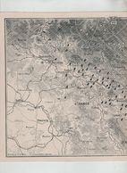 Avant La Bataille Des Ardennes Esch Longwy Virton Arlon Spincourt Mouzon Carignan... 1914 Carte - 1914-18