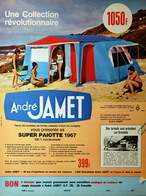 Publicité Papier 1967 - Tente ANDRE JAMET - Pubblicitari