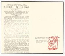DP Theophiel Lerno ° Lokeren 1881 † 1958 X Marie Blanckaert / De Roover Meganck De Vos - Devotion Images