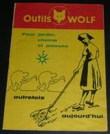 Rare Ancien Catalogue Publicitaire, Pub Outils Wolf, Jardin Jardinage, Années 1960's, Outil - Pubblicitari