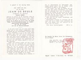 DP Jean De Beule ° Lokeren 1906 † 1963 X P. Lerno / De Schaepmeester Coquet - Devotion Images
