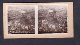 Carte Photo Stereo Guerre 14-18 Verdun  Fleury Ravin De La Mort  Tête Dite Du Kronprinz Sert De Point De Repere La Nuit - Guerre 1914-18