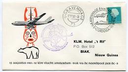 RC 6675 PAYS-BAS KLM 1961 1er VOL AMSTERDAM - ANCHORAGE TOKYO JAPON FFC NETHERLANDS LETTRE COVER - Airmail