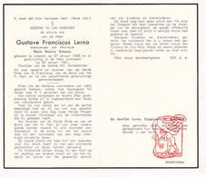 DP Gustave F. Lerno ° Lokeren 1882 † 1961 X M. Scheers / Coppieters Slabbaert - Devotion Images