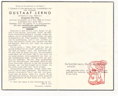 DP Gustaaf Lerno ° Lokeren 1878 † 1951 X A. De Vos / De Maesschalk - Devotion Images