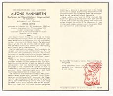 DP Leraar Jongensschool - Alfons Vanneuten ° Lokeren 1885 † 1957 X A. Lerno / Sterckendries Meganck - Devotion Images