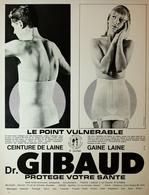 Publicité Papier 1966 - Ceinture Et Gaine GIBAUD - Pubblicitari