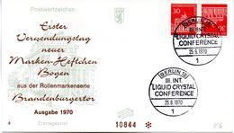 """WB Schmuck-FDC  Freimarken """"Brandenburger Tor"""", Mi. Zdr. K 6 SST BERLIN 12  25.8.1970 - FDC: Briefe"""
