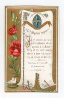 IVe Mystère Joyeux, Léon XIII, Reine Du Rosaire, Fleurs Et Colombes, éd. E. Bouasse Jne N° 3444 - Devotion Images